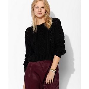 Urban Outfitters cable knit cropped sweater